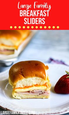 Breakfast Sliders Breakfast Slider, Make Ahead Breakfast, Breakfast Recipes, Breakfast Ideas, Freezer Cooking, Freezer Meals, Real Cooking, Cooking Tips, Large Family Meals
