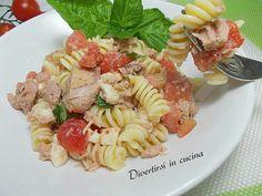 Pasta fredda tonno pomodorini e olive