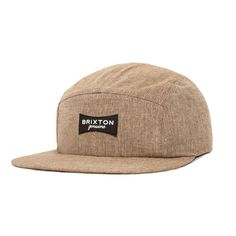 6e0752cf50e Brixton Ramsey Five Panel Cap p Tan Five Panel Cap