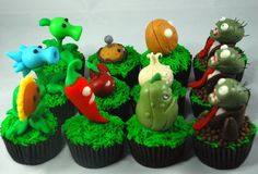 cupcakes de plants vs zombies