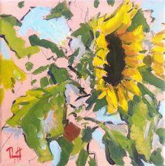 "Daily Paintworks - ""#63 / Sunflowers"" - Original Fine Art for Sale - © Richard Thorneycroft"