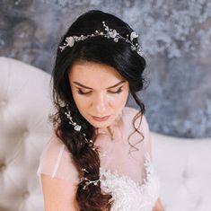 Flower Bridal Hair vine Bridal Hair Vine Crystals Bridal