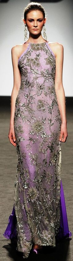 Renato Balestra, this is very lovely but I mostly pinned it for the color and fabric.