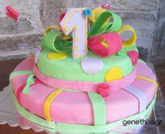 τουρτα δωρο φιογκος - 1st birthday cake idea
