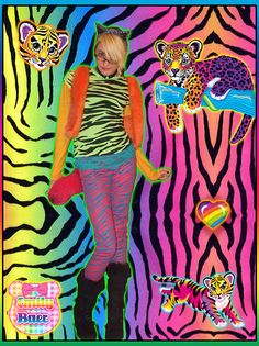 zaley wants to be lisa frank for halloween ??????? lol