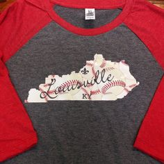 by sewcutebykatie on Etsy  Baseball shirt every Mom needs. Can customize with any city or state.