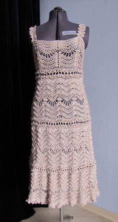 Vestido de Croche da Vanessa Montoro