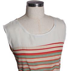 Multil Dimension Stripe Bow Belted Mini Dress