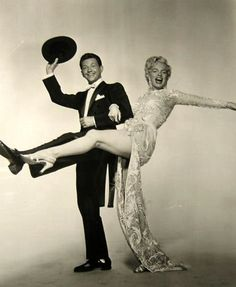 """Marilyn and Donald O'Connor promotional photo for """"There's No Business Like Show Business"""" 1954"""