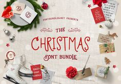 The Christmas Font Bundle | Font Bundles