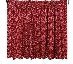 "Royalton Scalloped Lined Tier Curtains 24"" https://www.primitivestarquiltshop.com/products/royalton-scalloped-lined-tier-curtains-24 #primitivebath"