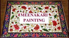 Marble Painting, Mirror Painting, Fabric Painting, Rangoli Colours, Tanjore Painting, Madhubani Art, Indian Art Paintings, Painting Patterns, Painting Tutorials