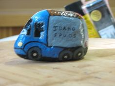 blue truck by Tia