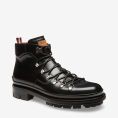 Shop the Medison boot from Bally. Luxurious calf leather joins a hiking-inspired silhouette in these rubber soled men's boots. Mens Fashion Shoes, Fashion Boots, Men's Fashion, Snow Boots, Winter Boots, Expensive Mens Shoes, Calf Leather, Leather Boots, Hiking Boots