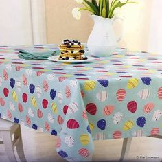 Charming Celebrate Easter Tablecloth Oblong 60 X 120 Bunny Rabbits Flowers Beige  Spring | Easter Tablecloth, Bunny Rabbit And Easter