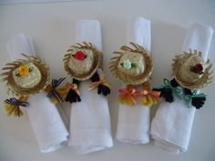 Napkin Folding, Deco Table, Diy Projects To Try, Diy Party, Diy Crafts To Sell, Tablescapes, Napkin Rings, Place Cards, Place Card Holders