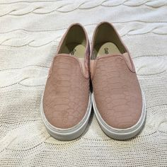 Pink Slip-on Sneakers Cute slip-on sneakers from Gap. Gently worn. This is a reposh because I simply didn't wear them enough to justify keeping them. GAP Shoes
