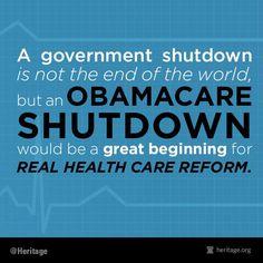 Obamacare - shut it down!