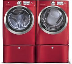 Love the Red!!! LG washer and dryer #LGatBBC