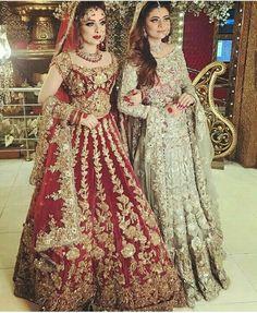 Khaki lehenga choli with dupatta. Work - Heavy embroidery work on lehenga, choli and dupatta. Pakistani Wedding Outfits, Pakistani Wedding Dresses, Best Wedding Dresses, Bridal Outfits, Indian Dresses, Indian Outfits, Dress Wedding, Walima Dress, Dresses Dresses