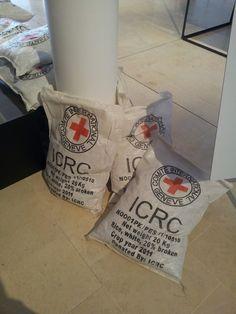 Scénographie sac de riz :-)