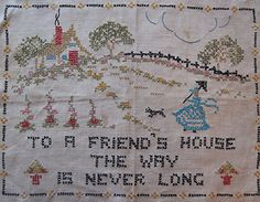 to the house of a friend