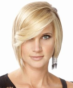 Medium Straight Formal Bob Hairstyle - Light Blonde (Golden)
