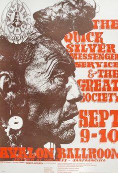 Quicksilver Messenger Service Poster from Avalon Ballroom (San Francisco, CA), Sep 9, 1966
