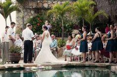 Wedding Ceremony at Casa Cosmos in Puerto Vallarta Mexico. Villa rentals are available through Casa Bay Villas - Wedding Planner was Beautiful Vallarta Weddings