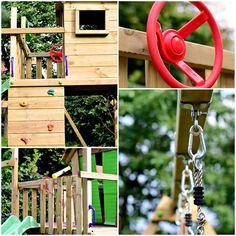 Wie baut man einen Spielturm auf?   lillesol & pelle Schnittmuster, Ebooks, Nähen Wind Chimes, Outdoor Structures, Outdoor Decor, Home Decor, Toy House, Sewing Patterns, Tutorials, Lawn And Garden, Kids