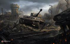 Tiger_I, Nikola Sinitsa on ArtStation at http://www.artstation.com/artwork/tiger_i