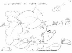 Storia d'autunno piccolo riccio Doodle Coloring, Coloring Pages, Cardboard Tree, Autumn Activities, Elementary Teacher, Autumn Theme, Diy And Crafts, Preschool, Doodles