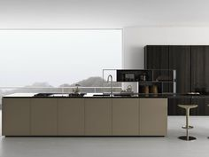 Oak kitchen with island Y | Composition 03 Y Collection by Zampieri Cucine | design Pierangelo Sciuto