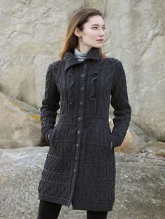 Ruffle Coat by Natallia Kulikouskaya for Aran Crafts of Ireland