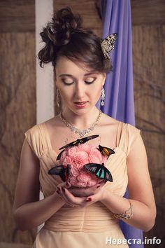 Фотосессии с бабочками   Свадебные фото Batterfly - живые бабочки в подарок на Невеста.info