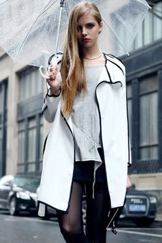 because you gotta look chic even when it is raining