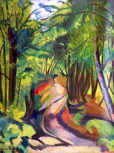 Suzanne VALADON (1865-1938) - Sous-bois, 1914  ♥ Inspirations, Idées & Suggestions, JesuisauJardin.fr, Atelier de paysage Paris, Stéphane Vimond Créateur de jardins ♥