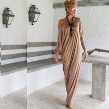 Haute qualité Maxi et le vent automne 2015 mode élégante manches longues lâche robe(China (Mainland))
