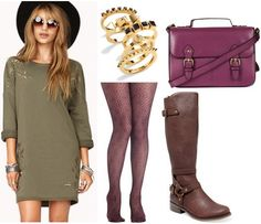Color Combo to Try: Purple + Olive | College Fashion
