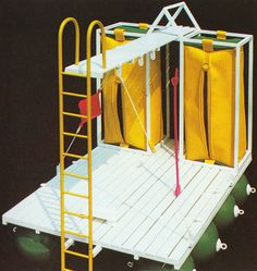 Ugo La Pietra, Floating Cabin, for Seaside Design, 1982