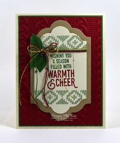 Stampin Up Another Wrapped in Warmth card by Kristi @ www.stampingwithkristi.com
