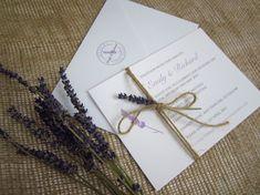 Lavender wedding invitation suite » SJ Wedding Invitations London