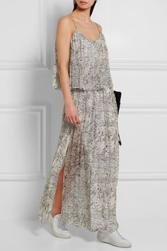 Elizabeth and James | Wind Mael printed crinkled silk-georgette maxi dress | NET-A-PORTER.COM