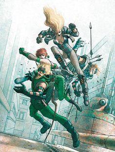 Green Arrow/Black Canary vs Cupid/Everything Man by José Ladrönn #ComicArt