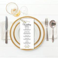 Bridal shower menu template etsy Ideas for 2019 Bridal Shower Chair, Bridal Shower Tables, Bridal Shower Rustic, Wedding Menu Template, Wedding Menu Cards, Backyard Bridal Showers, Bridal Party Tables, Bridal Games, Green Wedding