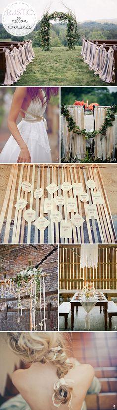 ribbon wedding roundup: rustic
