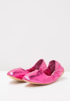 Lost Ink WILLA ELASTICATED - Bailarinas - bright pink - Zalando.es