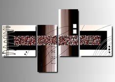 4 Quadri Moderni Astratti Città Colorati Vedi articolo