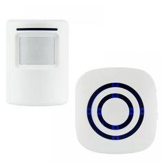 Wireless Motion Sensor Detector Gate Entry Door Bell Welcome Chime Alert Alarm EU/US Plug For Choose Drop ship Entry Gates, Entry Doors, Natural Disasters, Plugs, Home Improvement, Doorbells, Door Gate, Free Shipping, Set Design
