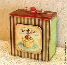 """Короб """"Капкейки"""" - пирожные,корзиночки,ванильное,вишневое,капкейки,сладости"""